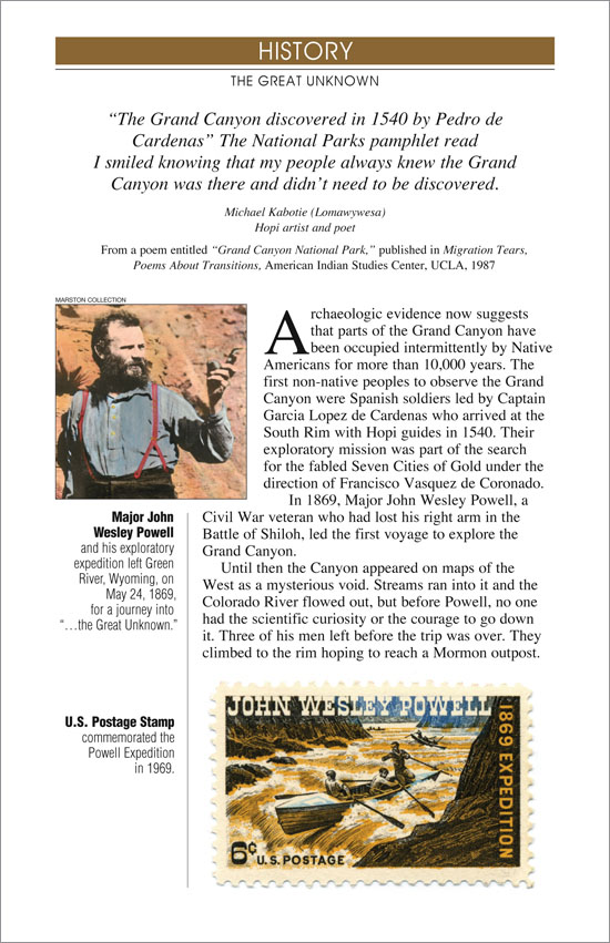 Grand Canyon River Guide - History