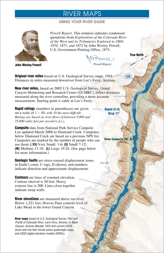 Grand Canyon River Guide - River Map Key